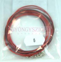 Textil nyakláncalap - piros barna - delfinkapoccsal - 46-47 cm