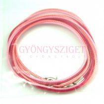 Textil nyakláncalap - piros pink - delfinkapoccsal - 46-47 cm