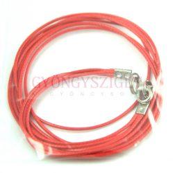 Textil nyakláncalap - piros - delfinkapoccsal - 46-47 cm