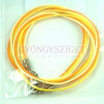 Textil nyakláncalap - fehér sárga - delfinkapoccsal - 46-47 cm