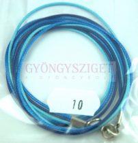 Textil nyakláncalap - kék - delfinkapoccsal - 46-47 cm