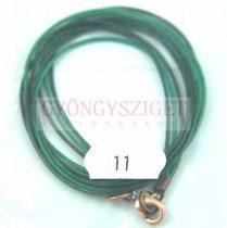 Textil nyakláncalap - zöld - delfinkapoccsal - 46-47 cm