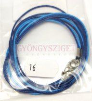 Textil nyakláncalap - kék - aqua - delfinkapoccsal - 46-47 cm