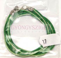 Textil nyakláncalap - green - mint - delfinkapoccsal - 46-47 cm