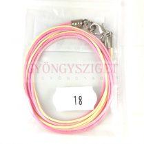 Textil nyakláncalap - cream - pink - delfinkapoccsal - 46-47 cm