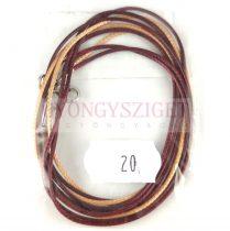 Textil nyakláncalap - bézs - garnet - delfinkapoccsal - 46-47 cm