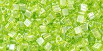 Toho háromszög gyöngy - 105 - Transparent Lime Green Luster - 11/0