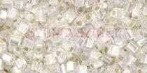 Toho háromszög gyöngy - 2021 - Silver-Lined Rainbow Crystal - 11/0