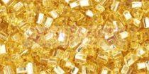Toho háromszög gyöngy - 022 - ezüst közepű világos topáz -11/0