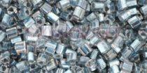 Toho háromszög gyöngy - 288 -  Metallic Blue-Lined Crystal - 11/0