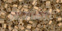 Toho háromszög gyöngy - 989fm - Gold-Lined Frosted Crystal - 11/0