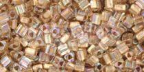 Toho háromszög gyöngy - 994 - Gold Lined Rainbow Crystal - 11/0