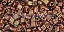 Toho háromszög gyöngy - y184 - hybrid rózsarany lüszteres topz -11/0