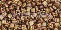 Toho háromszög gyöngy - y185 - hybrid telt smoked topas arany lüszter -11/0