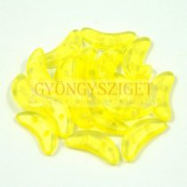 CzechMates 2 Hole Crescent Czech Glass Bead -  Colortrend Crystal Buttercup - 10mm