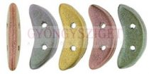 Crescent gyöngy - Kétlyukú félhold - Matte - Metallic Bronze Iris - 10mm