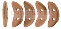 Crescent gyöngy - Kétlyukú félhold - Matte - Metallic Bronze Copper - 10mm