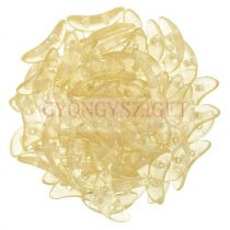 CzechMates 2 Hole Crescent Czech Glass Bead - crystal champagne luster - 10mm