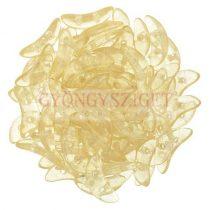 Crescent gyöngy - Kétlyukú félhold - Crystal Champagne Luster - 10mm