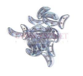 Crescent gyöngy - Kétlyukú félhold - Crystal Blue Luster - 10mm