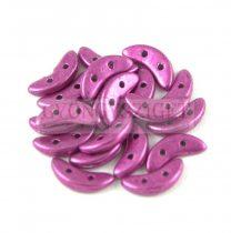 Crescent gyöngy - Kétlyukú félhold - Saturated Metallic Pink - 10mm