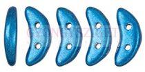 Crescent gyöngy - Kétlyukú félhold - Saturated Metallic Nebulas Blue - 10mm