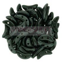 CzechMates 2 Hole Crescent Czech Glass Bead - Matte Metallic Fern - 10mm