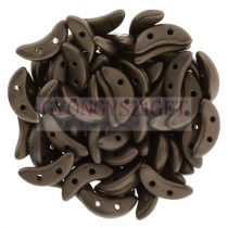 Crescent gyöngy - Kétlyukú félhold - Matte Dark Bronze - 10mm