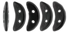 Crescent gyöngy - Kétlyukú félhold - Opaque Black - 10mm
