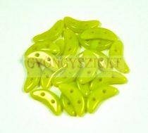 Crescent gyöngy - Kétlyukú félhold - Light Green - 10mm
