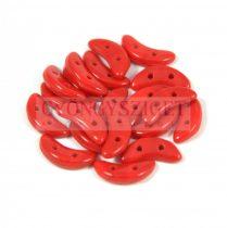 Crescent gyöngy - Kétlyukú félhold - Opaque Red - 10mm