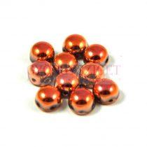 Cseh préselt kétlyukú kaboson - crystal capri gold - 6mm