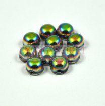 Cseh préselt kétlyukú kaboson - crystal full vitral - 6mm