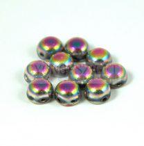 Cseh préselt kétlyukú kaboson - crystal vitral medium full luster - 6mm