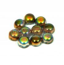Cseh préselt kétlyukú kaboson - crystal magic copper - 6mm