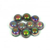 Cseh préselt kétlyukú kaboson - crystal magic purple - 6mm