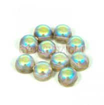 Cseh préselt kétlyukú kaboson - crystal golden rainbow - 6mm