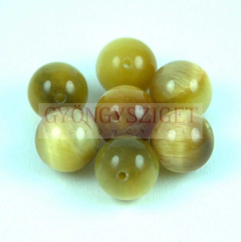 Tigrisszem gyöngy 8mm - arany Tigrisszem gyöngyök és kabosonok 801e50775e