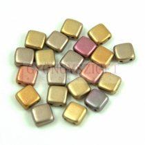 Tile gyöngy - Crystal Gold Rainbow - 6x6mm