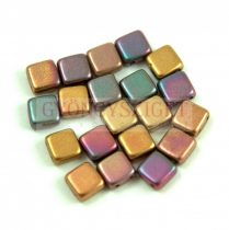 Tile gyöngy - Matte Metallic Bronze Iris - 6x6mm
