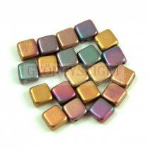 Tile gyöngy - Matte Metallic Bronze Iris - 6x6mm