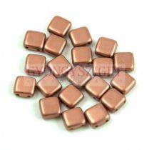 Tile gyöngy - Matt Copper - 6x6mm