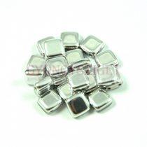 Tile gyöngy - Silver - 6x6mm