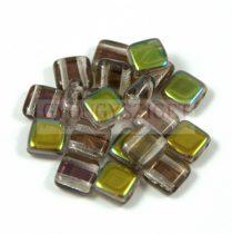 Tile gyöngy -  Crystal Green Vitex - 6x6mm
