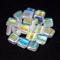 Tile gyöngy -  Crystal AB - 6x6mm