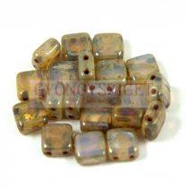 Tile gyöngy -  White Opal Silver Traventin - 6x6mm