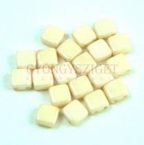 Tile gyöngy - Alabaster Light Beige Luster - 6x6mm