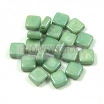 Tile gyöngy - Alabaster Green Luster - 6x6mm