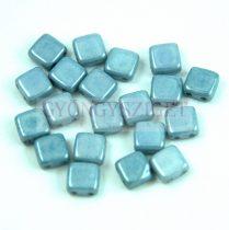 Tile gyöngy - Alabaster Blue Luster - 6x6mm