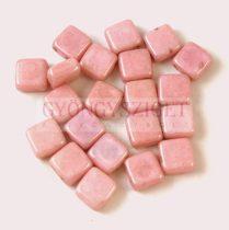 Tile gyöngy - Alabaster Pink Luster - 6x6mm